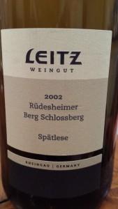 Leitz Rudesheimer Berg Schlossberg 2002