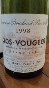 Bouchard Clos Vougeot 1998