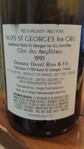 Rion Nuits Argillieres 1995
