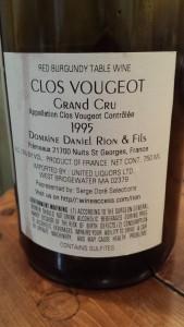 D. Rion Clos Vougeot 1995