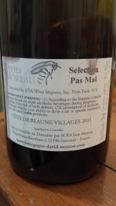 David Moreau Cote de Beaune Villages 2011