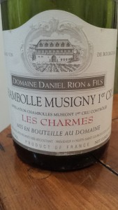Rion Chambolle Charmes 1990