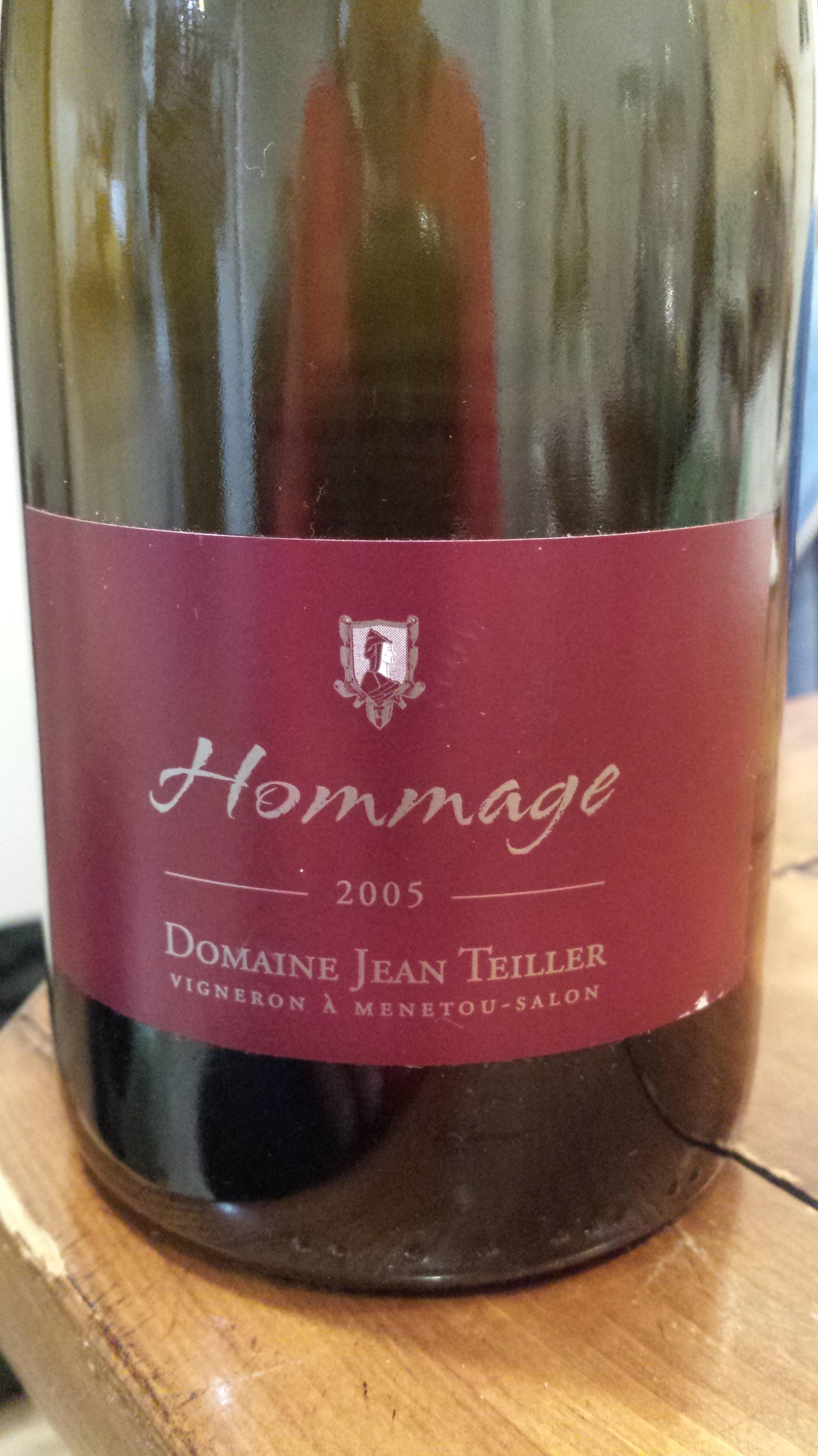 Domaine jean teiller hommage menetou salon 2005 winenoodle - Menetou salon teiller ...