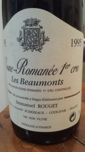 Rouget Vosne Beaux Monts 1995
