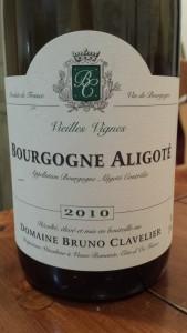 Bruno Clavalier Bourgogne Aligote 2010 #1
