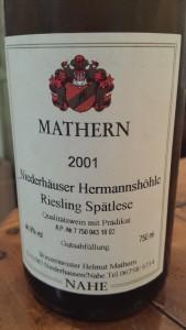 Mathern Spatlese 2001
