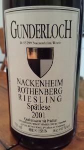 Gunderloch Spatlese 2001
