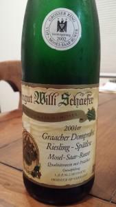 Schafer Graacher Spatlese GK 2001 #2