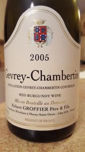 Groffier Gevrey 2005