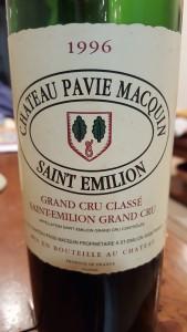 Pavie Macquin 1996