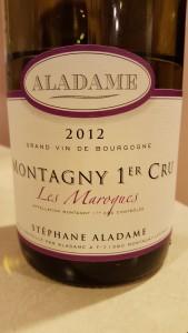 Aladame Montagny Maroques 2012