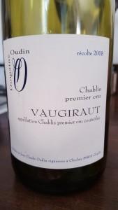 Oudin Chablis Vaugiraut 2008