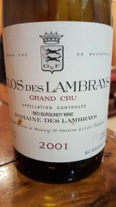 Clos des Lambrays 2001