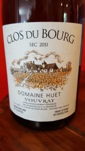 Huet Vouvray Clos du Bourg 2011