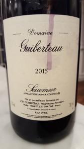 Guiberteau Saumur Rouge 2015